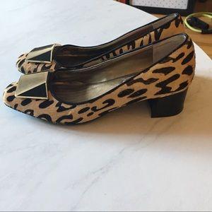 Leopard print heels by Isaac Mizrahi